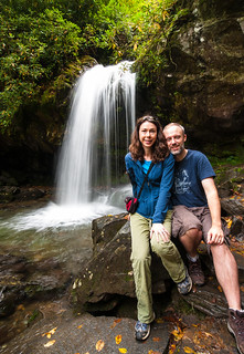 Kate and I at Grotto Falls