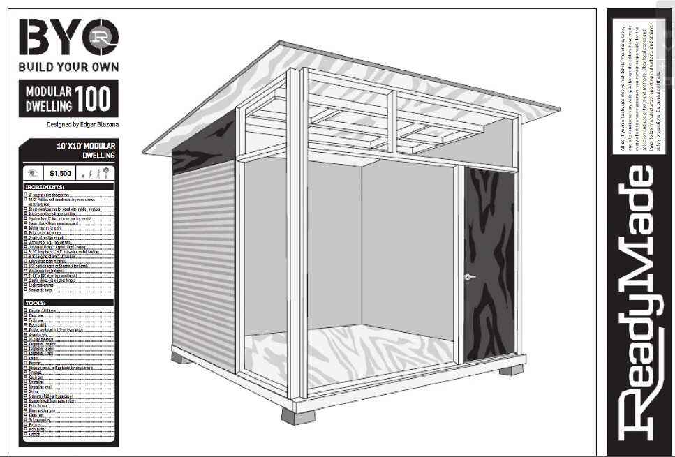 MD100 Plans for Modern Shed Red Cover Studios