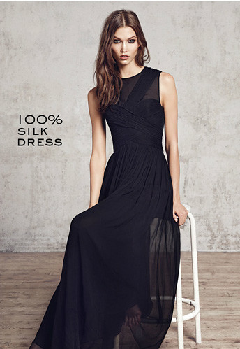 draped long silk dress RM669