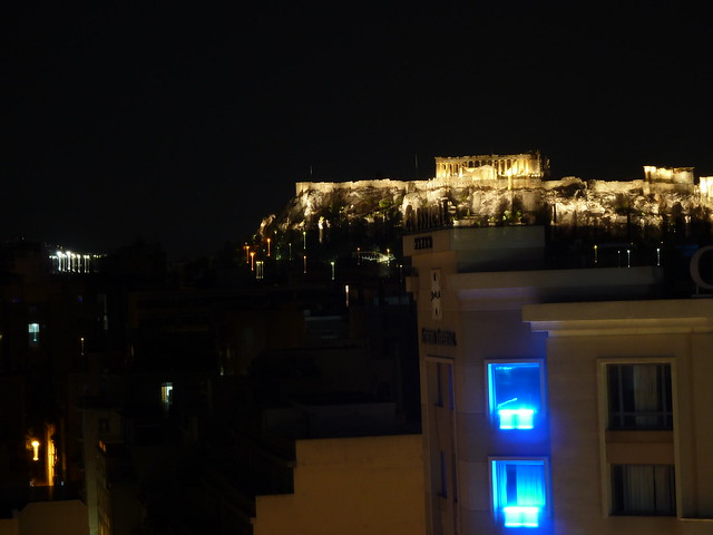 Acropolis is Nicely Lighted at Night