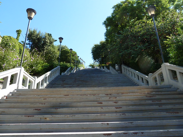 Long Stairway Up to the Castle