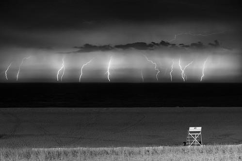 Lightning over the Atlantic  -  Composite