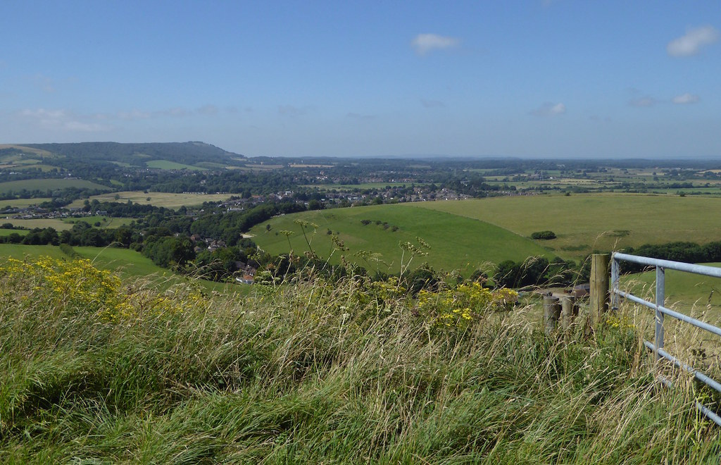 Downs view towards the end Hassocks to Upper Beeding walk