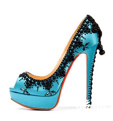 bridal shoe, basic pump, footwear, aqua, high-heeled footwear, cobalt blue, teal, azure, electric blue,