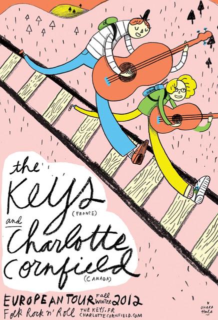 KEYS/CHARLOTTE CORNFIELD tour poster