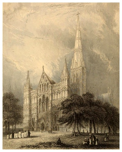 001-Catedral de Salisbury-Winkles's architectural and picturesque illustrations of the catedral..1836-Benjamin Winkles