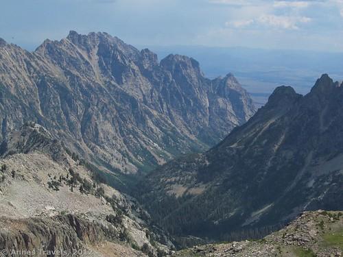Cascade Canyon from Table Mountain, Grand Teton National Park, Wyoming