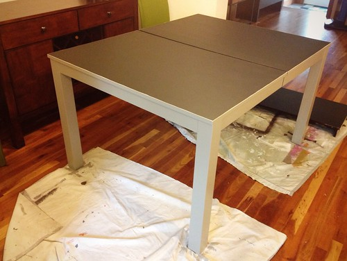 dining table: painted