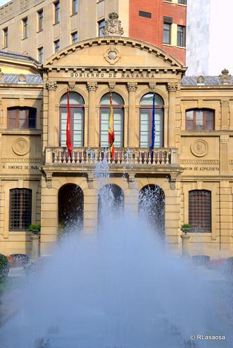 Fuente en los jardines del Palacio de Navarra