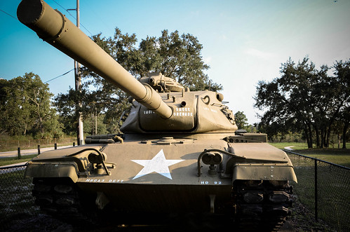 Front of Army Tank M60A3
