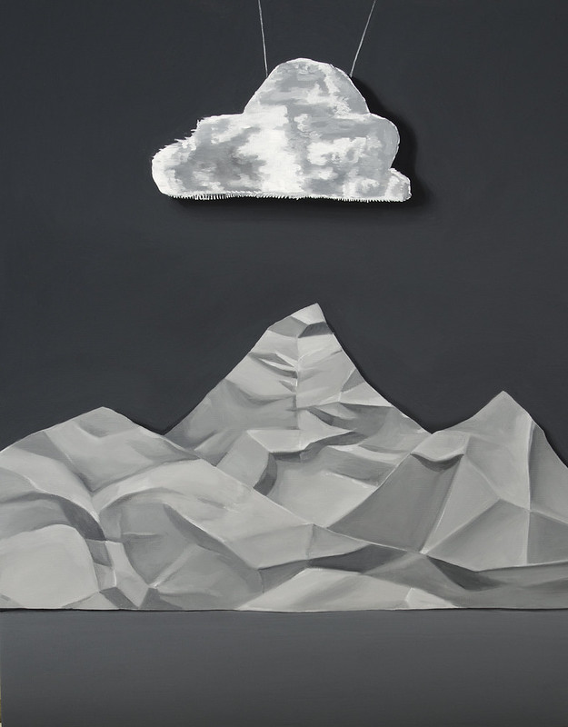 "Cloud and Mountain - 11x14"" - Cassie Marie Edwards"