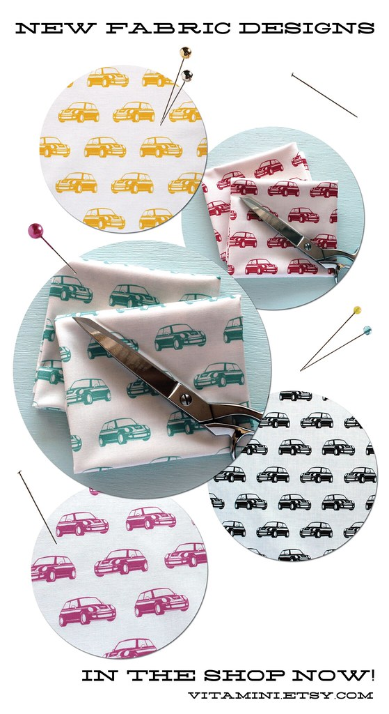MINI Cooper Fabric by Vitamini at Etsy