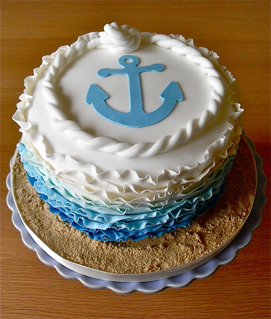 Pictures Of A Cake With Anchor In Frosting