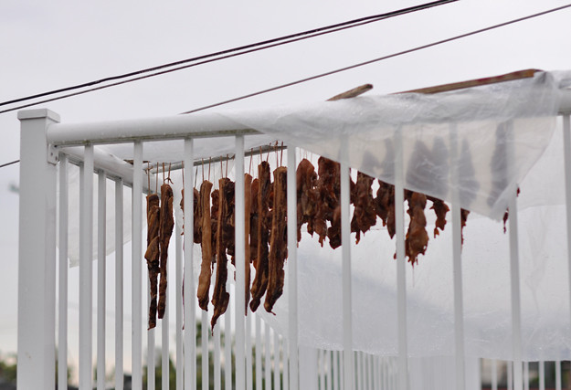 Meat-hung-out-to-dry