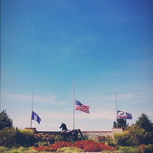 Half mast at the ranch. #911 #remember