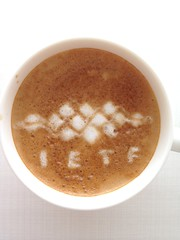 Today's latte, IETF (Internet Engineering Task Force).