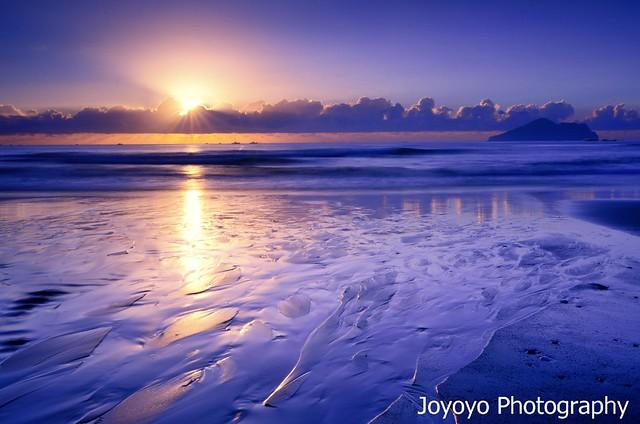 日出 宜蘭外澳沙灘