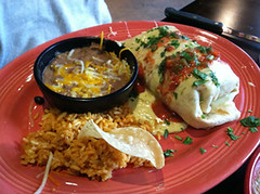 Chicken Fajita Burrito, Don Pablo's, Sarasota, FL, Restaurant Review