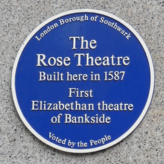 Photo of The Rose Theatre blue plaque