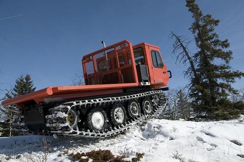 track machine climbing hill