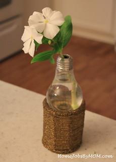 light bulb flower vase