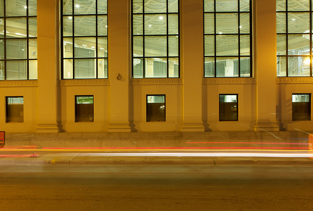 1601 North Milwaukee at Night, Interior Lit, September 2012