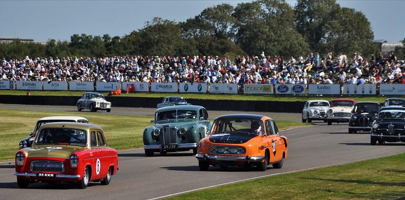 Touring car racing at Goodwood Revival 2012