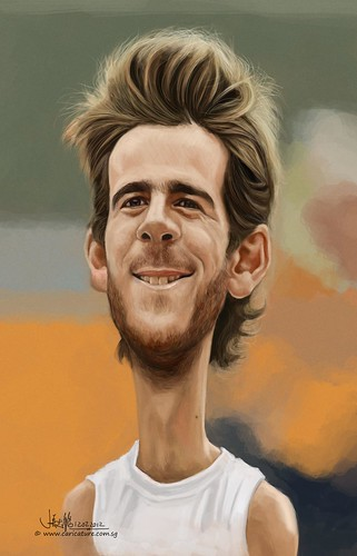 digital caricature sketch of Juan Martín del Potro