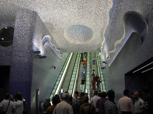 """La stazione """"Toledo"""" della metropolitana di Napoli, inaugurata il 17.9.12 / """"Toledo"""" Underground Station in Naples, open 17.9.12 - Architect Oscar Tusquets (Barcelona 1941); painter William Kentridge (Johannesburg 1955)"""