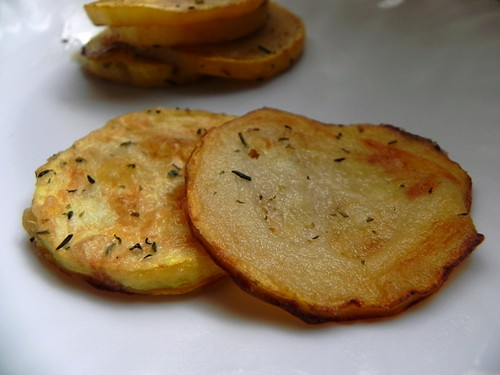 Fried courgette