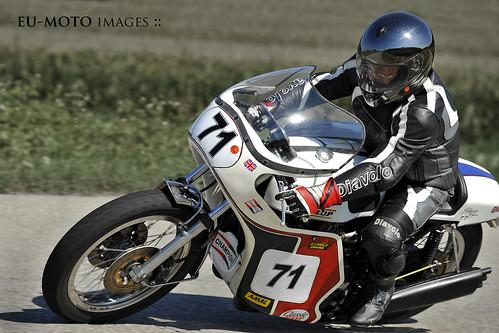 Slippery Sam Triumph motorcycle Schwanenstadt GP Austria Copyright 2012 B. Egger :: eu-moto images 1210