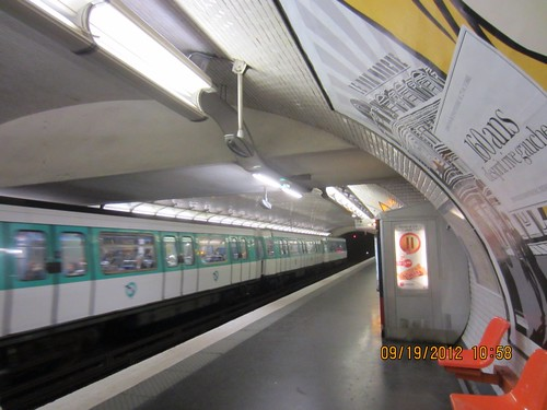 Photo A Day Sep 19, 2012--Underneath (Paris Metro) by marie watterlond