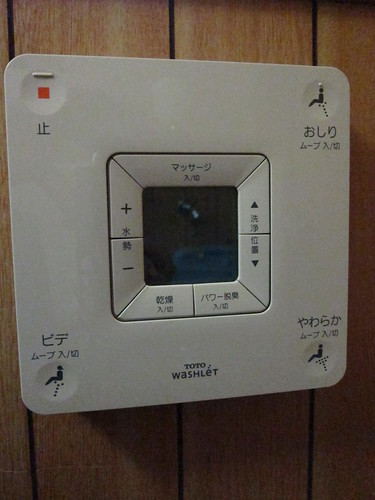 Hi-tech toilet controls
