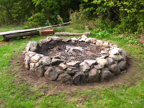 Cleaned fire pit