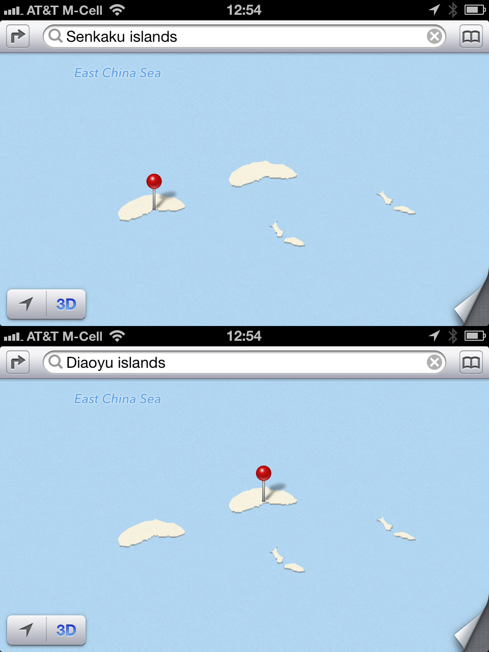 Apple Map Diplomacy
