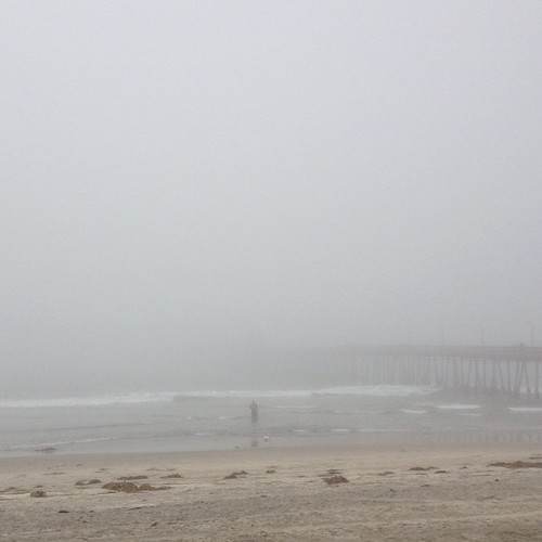 Misty Imperial Beach. Can't even see the end of the pier. #nofilter