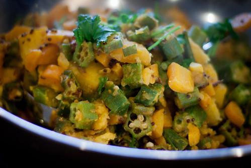 Potato shak with okra