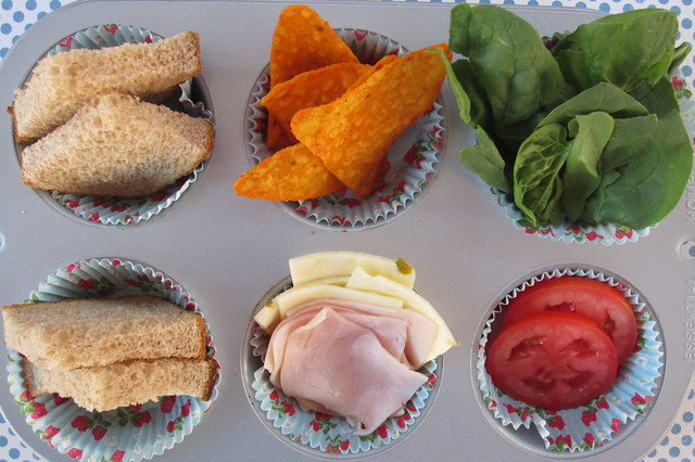 muffin tin monday build your own sandwich