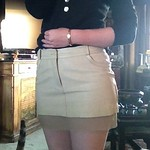 Resurrected leather skirt from tag sale in Brookville