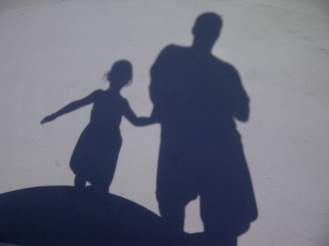 Dad Daughter Shadows