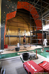 Rozbudowa ściany wspinaczkowej, drugi etap.