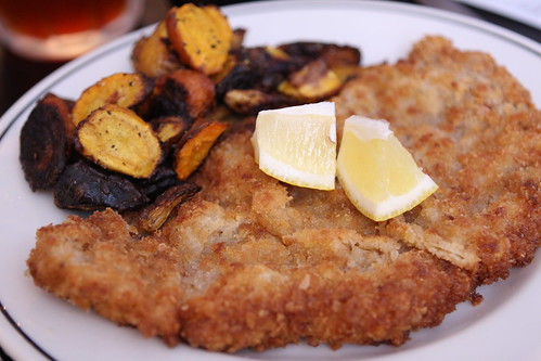 Veal Schnitzel with Roasted Carrots