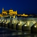 View of the Roman bridge and the  Great Mosque of Córdoba