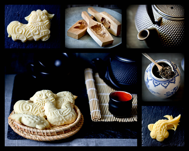 Shortbread Cookies made with Chinese Wood Molds