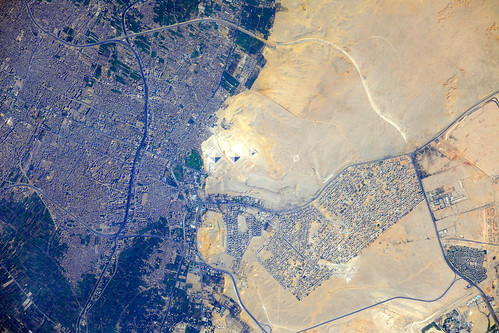 Pyramids at Giza, Egypt (NASA, International Space Station, 07/26/12)