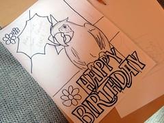 Geburtstagskarte Papagei (Outline)