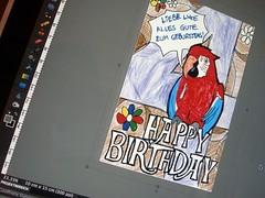 selbstgemachte Geburtstagskarte digitalisieren