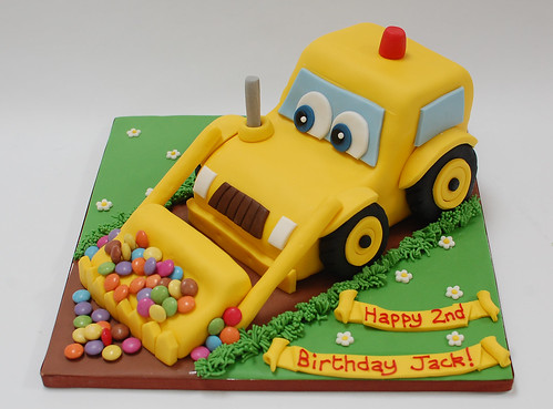 Cartoon Digger Cake   Beautiful Birthday Cakes