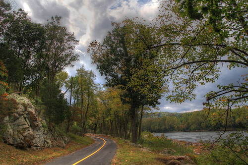 Country Road Along the Delaware in Hunterdon County by Dave Aragona