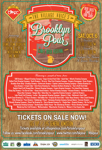 The Village Voice's Brooklyn Pour – Saturday October 6th